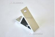 Уголок алюминиевый 80х80 45 градусов серия 40