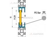 Профиль для раздвижной двери верхний паз 8