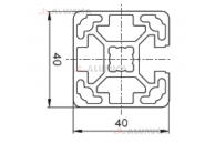 Алюминиевый конструкционный профиль 40х40 1N (закрытый) анодированный