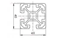 Алюминиевый конструкционный профиль 40х40 2NVS (закрытый) анодированный