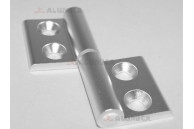 Дверная петля алюминиевая разборная правая 40 c крепежом
