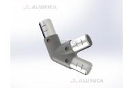 L-коннектор 45° правый
