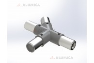 T-коннектор 45° левый