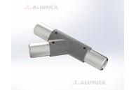 Y-коннектор 45° левый