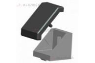 Угловой соединитель 40x40 (Уголок + соед. элементы + заглушка)