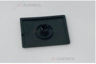 Алюминиевый конструкционный профиль сечением 20x20 анодированный черный