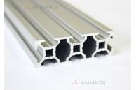 Алюминиевый конструкционный профиль сечением 20x60 анодированный