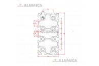 Алюминиевый конструкционный профиль сечением 90х180 анодированный