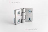 Дверная петля алюминиевая 40 c крепежом