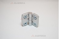 Дверная петля алюминиевая 30 c крепежом