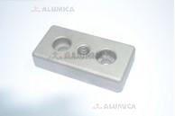 Пластина для крепления опоры 40х80 М12х9(15,5)