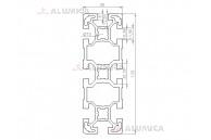 Алюминиевый конструкционный профиль сечением 40x120 анодированный