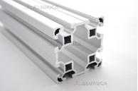 Алюминиевый конструкционный профиль сечением 80х80 анодированный