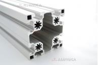 Алюминиевый конструкционный профиль сечением 90х90 анодированный