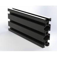 Алюминиевый конструкционный профиль 20x60 анодированный черный