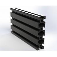 Алюминиевый конструкционный профиль сечением 20x80 анодированный черный