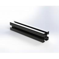 Алюминиевый конструкционный профиль 30x30 анодированный черный