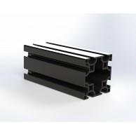 Алюминиевый конструкционный профиль 60х60 8 пазов анодированный черный