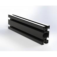 Алюминиевый конструкционный профиль 30x60 анодированный черный
