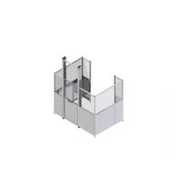 Промышленное ограждение для оборудования с модульными подъемными дверями