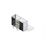 Ограждение для оборудования со встроенным рабочим столом