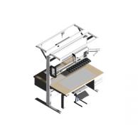Двойной профессиональный монтажный рабочий стол