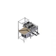 Компактный рабочий стол для заготовки материалов