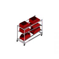 Полка для временного хранения с роликовыми конвейера
