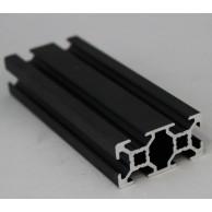 Алюминиевый конструкционный профиль сечением 20x40 анодированный черный