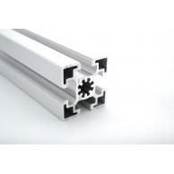 Алюминиевый конструкционный профиль сечением 45х45 усиленный анодированный