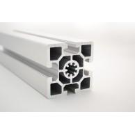 Алюминиевый конструкционный профиль сечением 60х60 усиленный анодированный