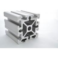 Алюминиевый конструкционный профиль сечением 90х90 усиленный анодированный