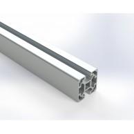 Алюминиевый конструкционный профиль 40х40 2N (закрытый) анодированный