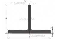 Алюминиевый тавр — Т-образный профиль 15х15х2