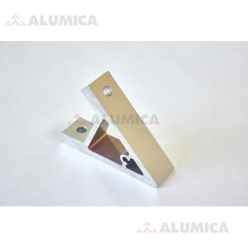 Уголок алюминиевый 80х80 45 градусов серия 30