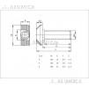 Болт Т-образный Паз8 М6 20мм класс прочности 8.8.
