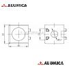 Кубический соединитель 2-х контактный 20 серии с крепежом