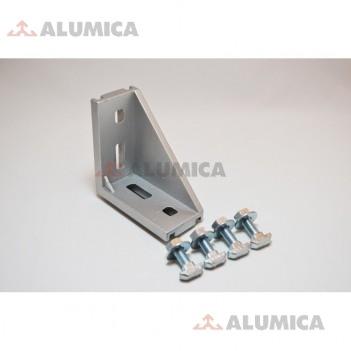 Угловой соединитель 45x90+соединительные  элементы