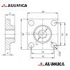 Пластина для крепления опоры 40х40 М8-6,5