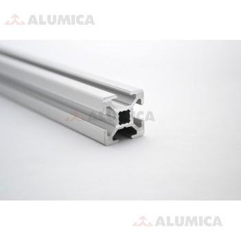 Алюминиевый конструкционный профиль сечением 20x20 анодированный