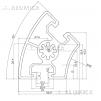 Алюминиевый конструкционный профиль 45х45° анодированный