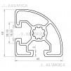 Алюминиевый конструкционный профиль 45х45R анодированный