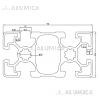 Алюминиевый конструкционный профиль 45х90 облегченный