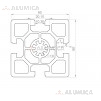 Алюминиевый конструкционный профиль 60х60 анодированный