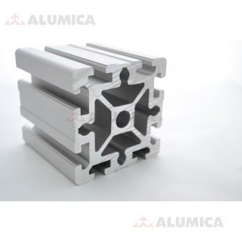 Алюминиевый конструкционный профиль сечением 90х90 усиленный без покрытия