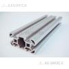 Алюминиевый конструкционный профиль сечением 40x80 анодированный