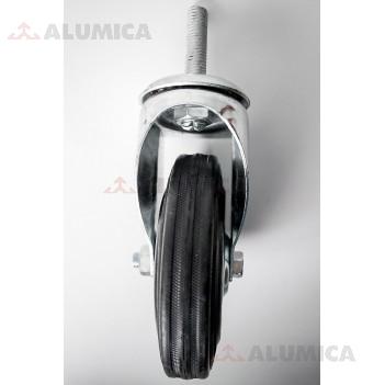 Ролик 125 мм поворот. М12 черный роликоподшипник