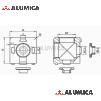 Кубический соединитель 2-х контактный 40 серии с крепежом
