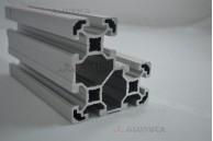 Алюминиевый конструкционный профиль сечением 40х80х80 анодированный