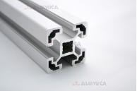 Алюминиевый конструкционный профиль сечением 40х40 анодированный
